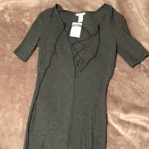 H&M tie front dress
